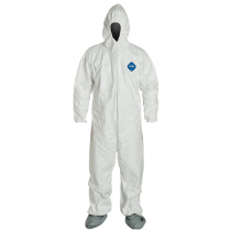 Coverall Hood Zipper White